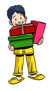 clip_holding gifts